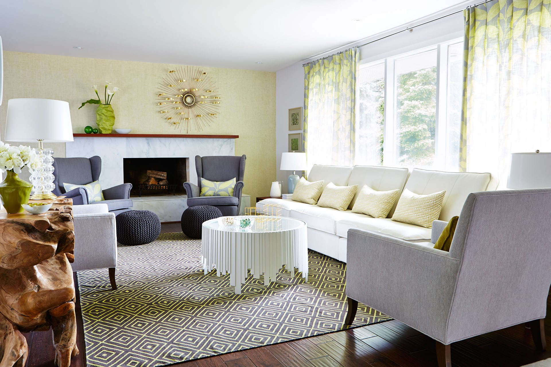 sarah richardson living rooms giving a new twist to a 1960s home 16398
