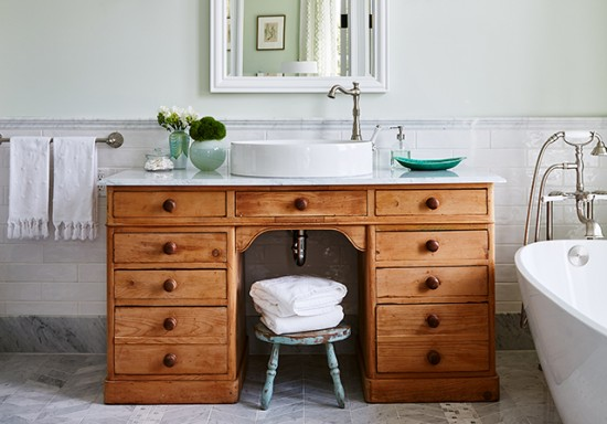 Design Life: How to make a vanity using recycled furniture! (Ep. 95)