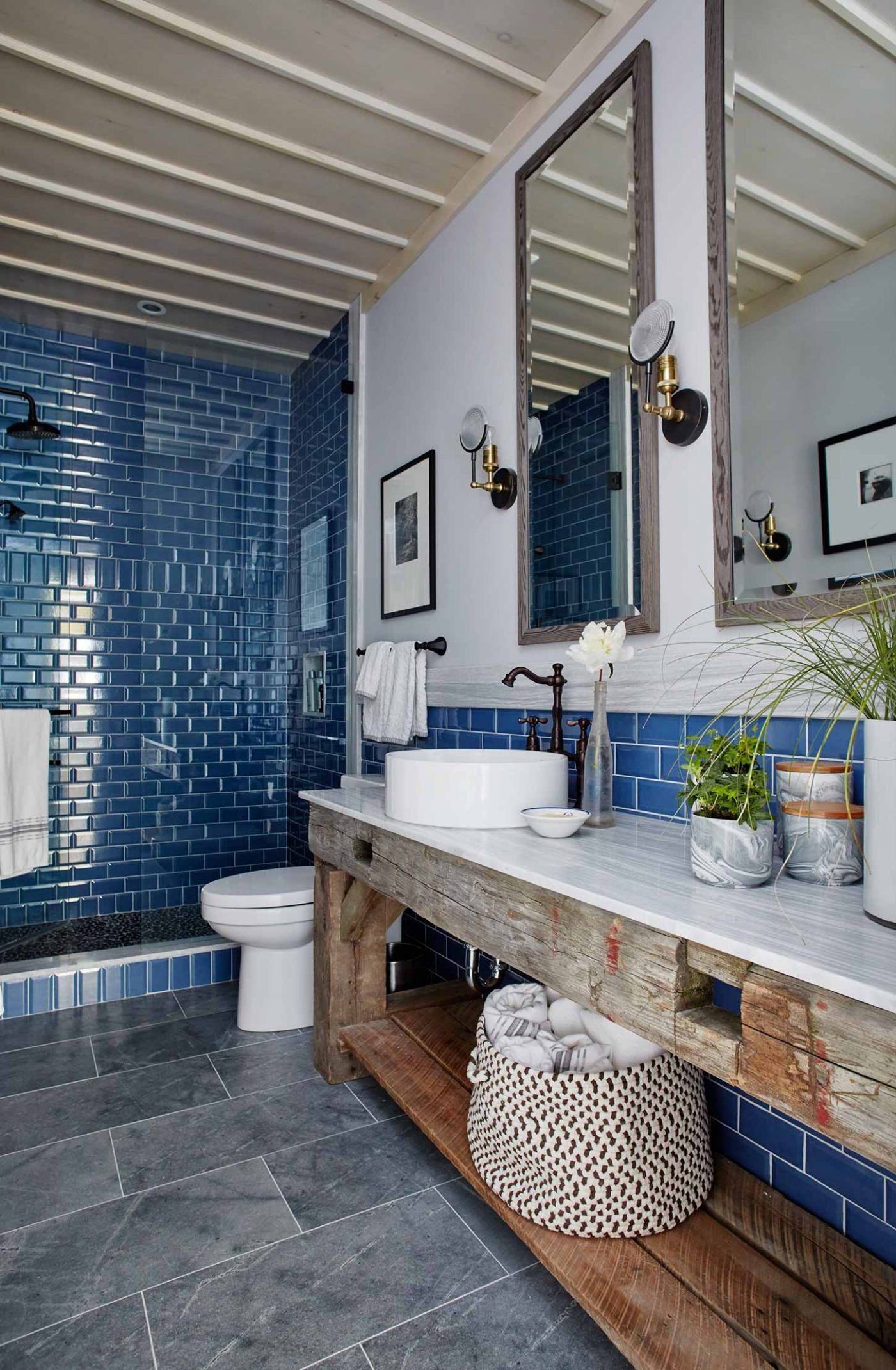 Guest House Room Design: Shop The Room! Sarah Richardson Guest Bathroom {Rustic